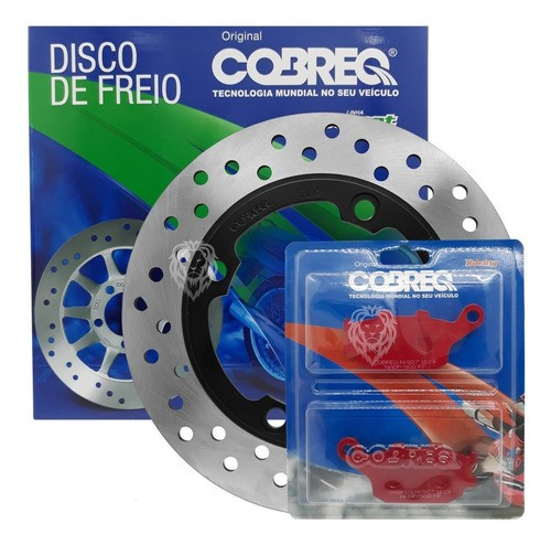 Disco De Freio Traseiro Hornet 07+pastilha Traseira Cobreq