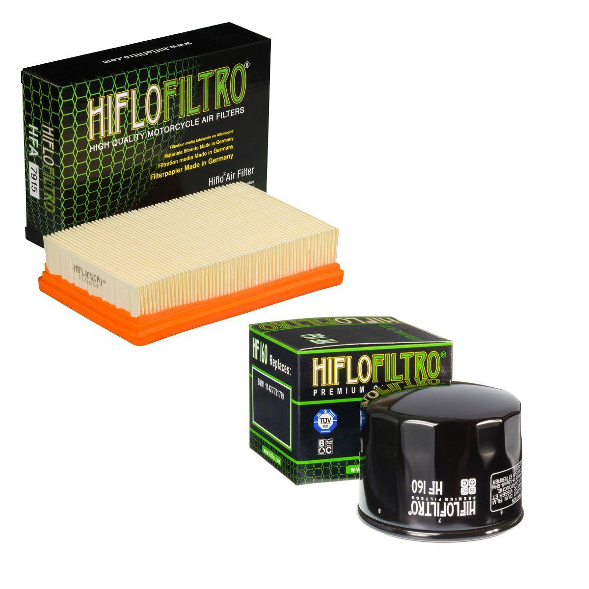 Filtro Ar Bmw R1200 GS/Adventure 2013 à 2019 + Filtro Óleo Hiflofiltro