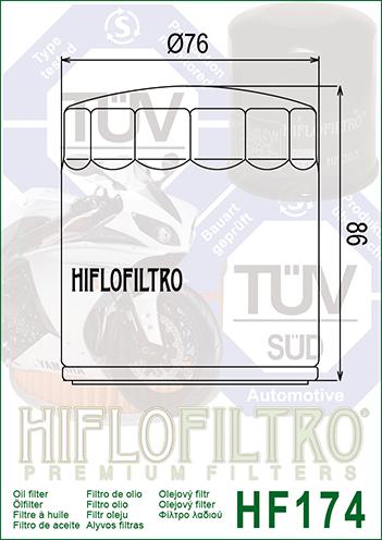 Filtro De Óleo Harley Davidson V-rod Muscle Vrscf Hiflofiltro HF174C