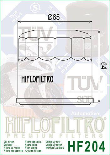 Filtro De Oleo Honda CBR 600/1000RR/NC/Transalp/XX/CB500/Tiger 800 Hiflofiltro HF204
