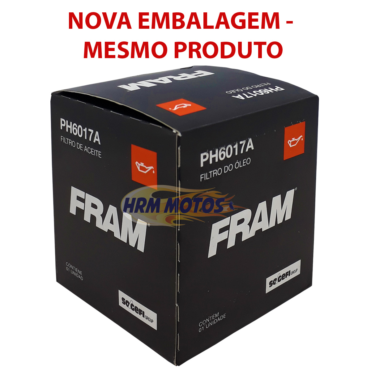 Filtro De Óleo Honda Shadow 600/750/nc700/750x Ph6017a Fram