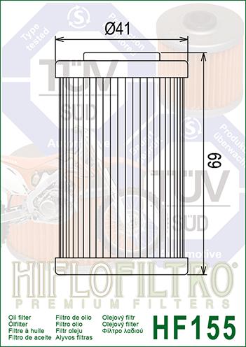 Filtro De Óleo KTM 200/390/690/Husaberg Hiflofiltro