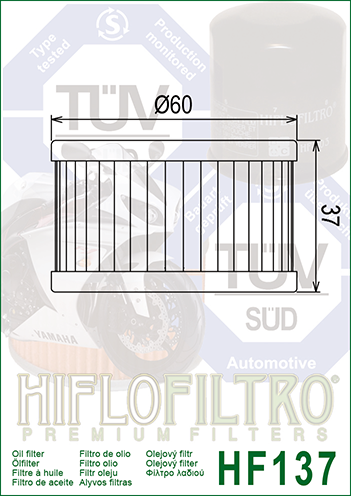Filtro De Oleo Suzuki Freewind 97-02 Hiflofiltro HF137