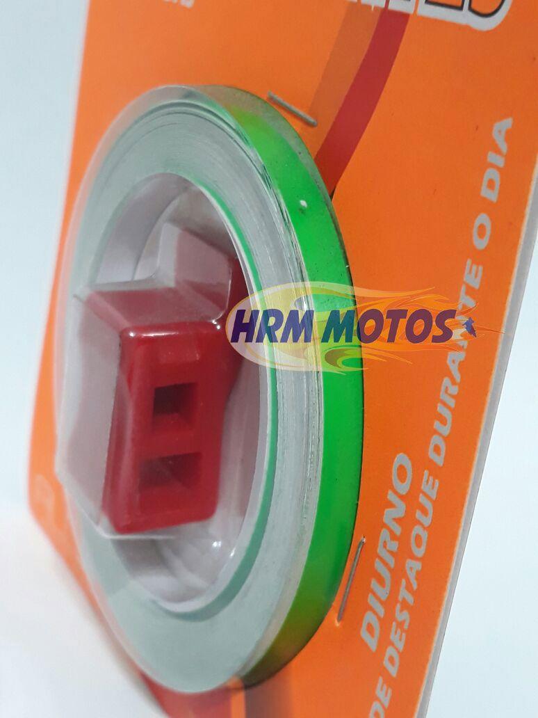 Fita Friso De Roda Fluorescente Motos Alcom Com Aplicador