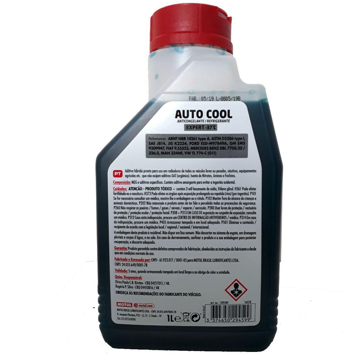Fluído Radiador Auto Cool Expert -37ºC