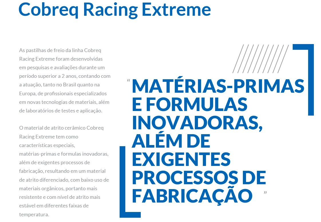 Jg Pastilha Freio Cerâmica XJ6 2013 à 2020 Cobreq Racing Extreme