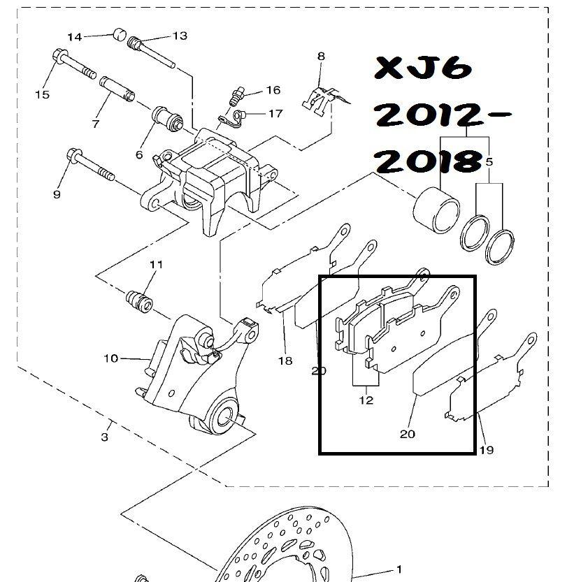 Jg Pastilha Freio Completo Xj6 12-19 Potenza Metálica