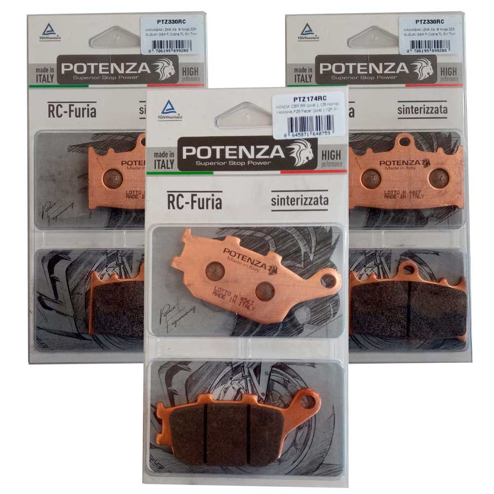 Jg Pastilha Freio Poteza BANDIT 650/1250/GSX 650F/Versys 1000