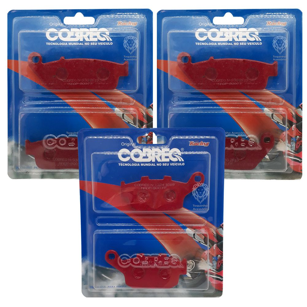 Jg Pastilha Honda Cb 650f Com Abs/Tiger 800 XC/XCX/XRX Cobreq Racing