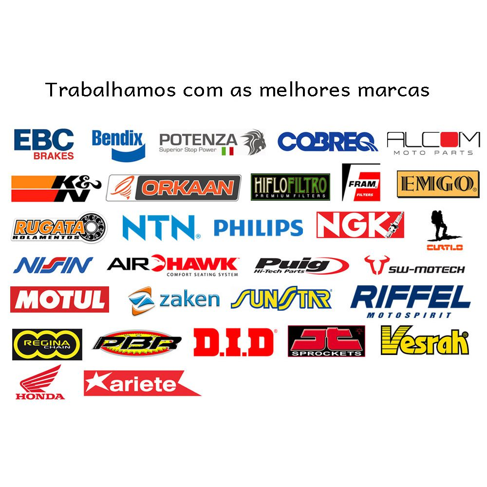 Jg Pastilhas Freio Nxr 160 Bros/XRE 190. Dianteira e Traseira Potenza