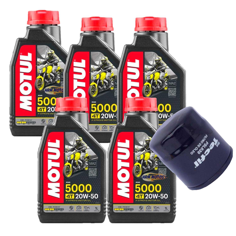 Kit 5 Lts Óleo Motul 5000 20w50+filtro Fram Boulevard 1500