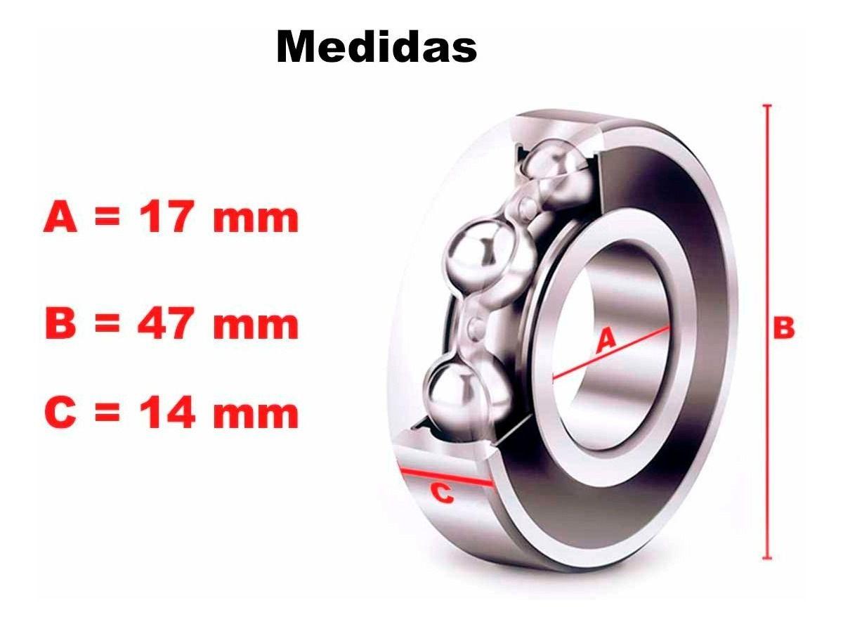 Kit Com 2 Rolamentos Roda Dianteira Honda CB 500X / CB 500R / CB 500F 2014 à 2018