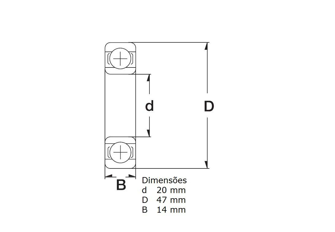 Kit Com 2 Rolamentos Roda Traseira Honda CB 650F CBR 650F
