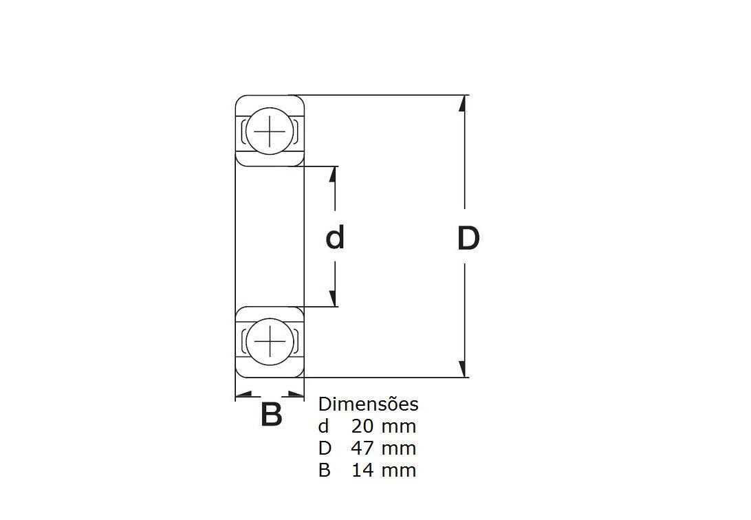 Kit Com 2 Rolamentos Roda Traseira Honda Nc 700X NC 750X