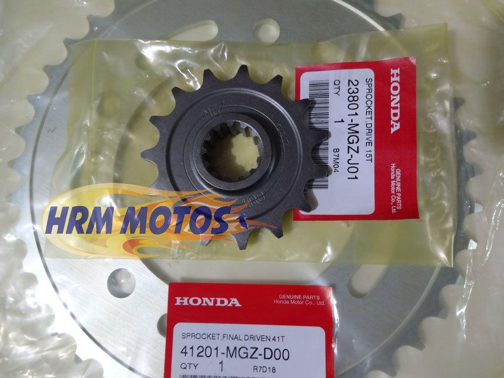 Kit Coroa E Pinhão Original Honda Genuíno P/CB 500f CB 500x CBR 500R (41x15 dentes)