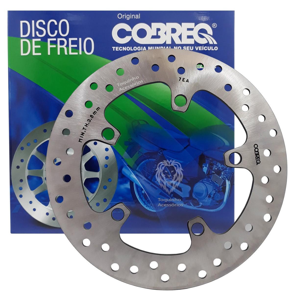 Kit Disco de Freio Cobreq Diant e Traseiro Fazer 250 até 2017