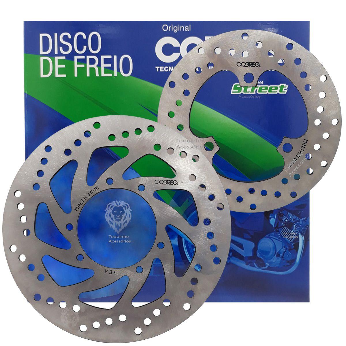 Kit Disco De Freio Dianteiro E Traseiro Lander 250 / Tenere 250 Cobreq Original