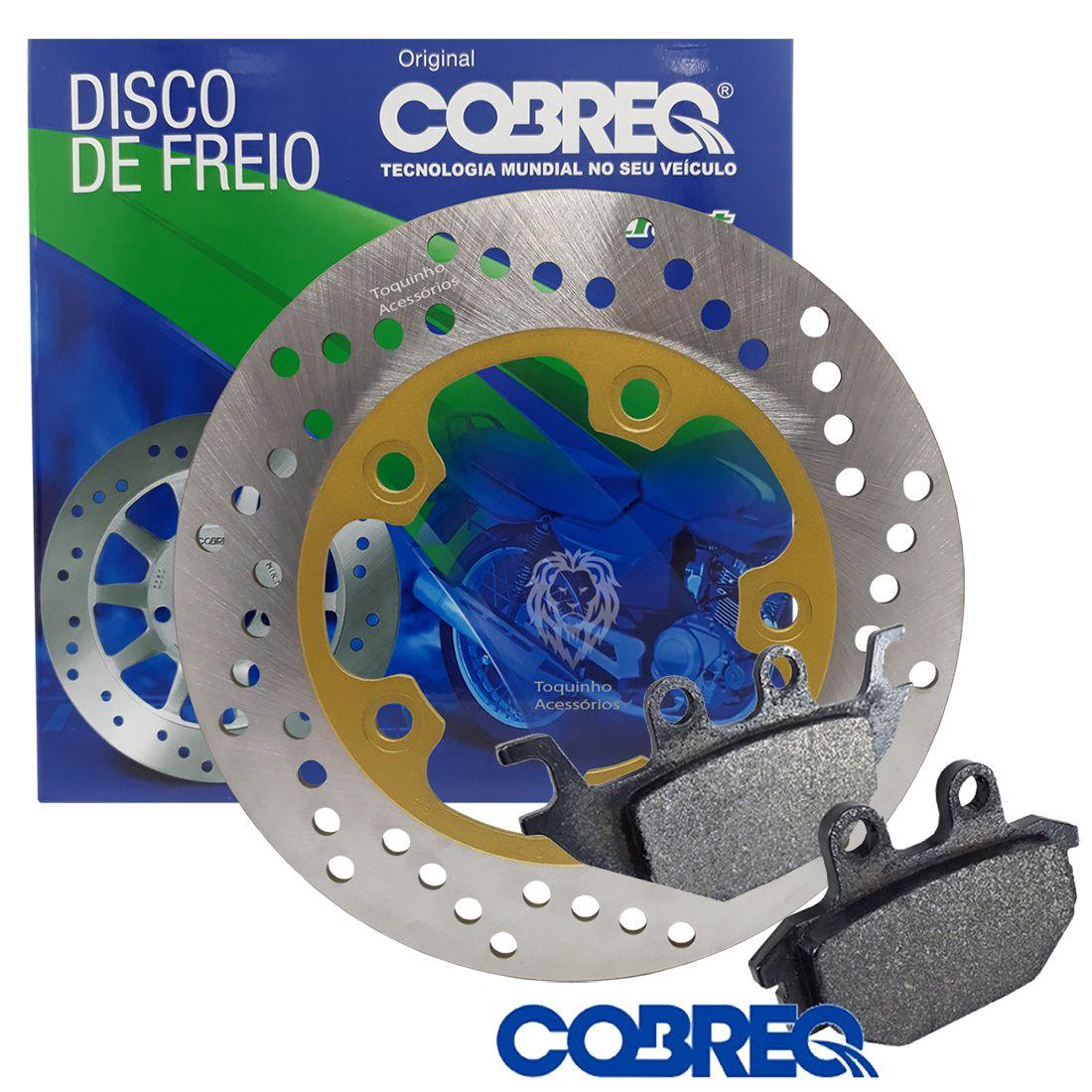 Kit Disco De Freio Traseiro Next 250 Cobreq + Pastilha Traseira