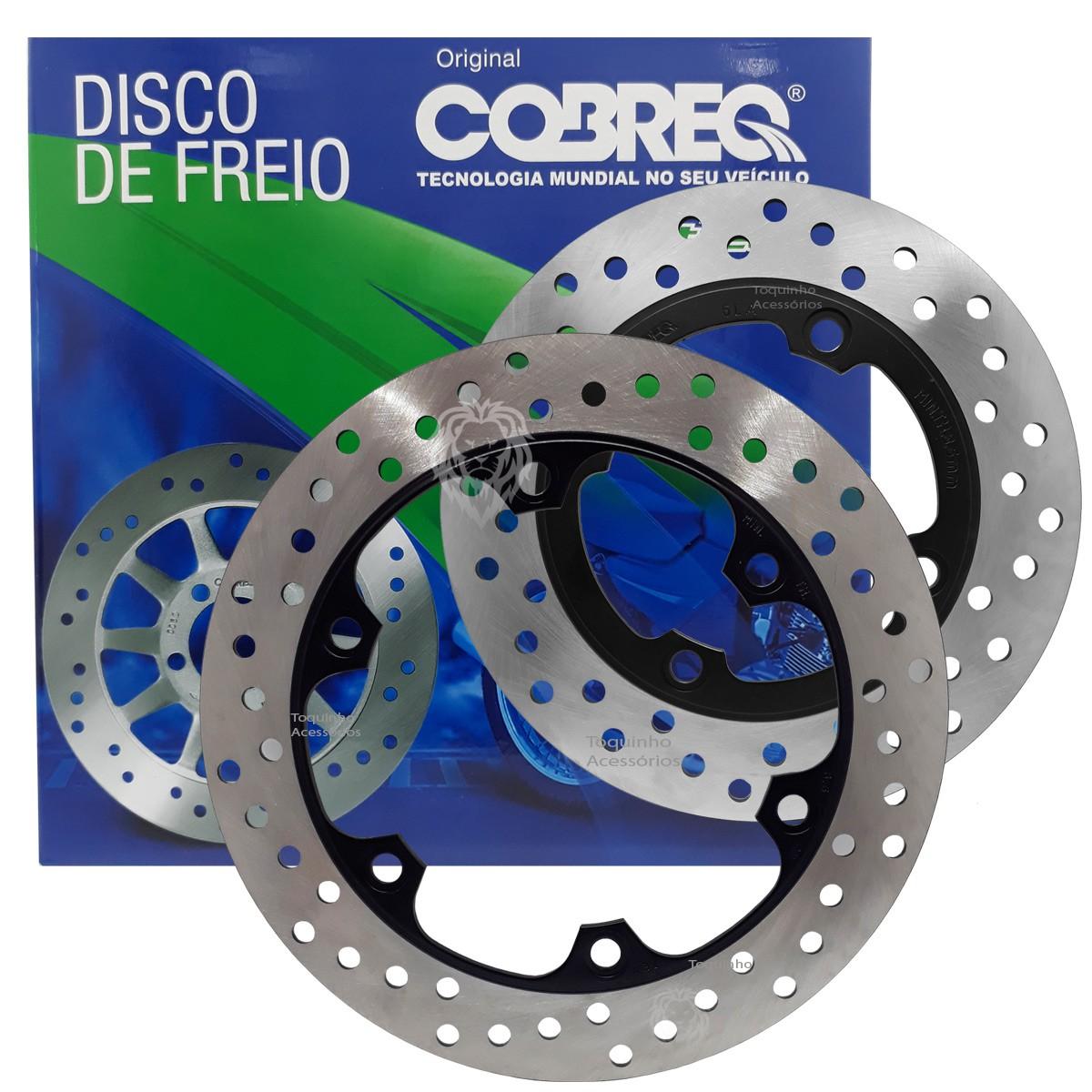 Kit Discos Freio Dianteiro e Traseiro NX 400 Falcon Cobreq + Pastilhas Cobreq