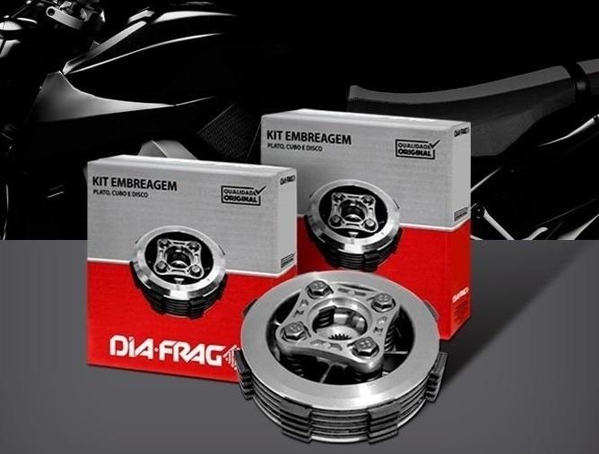 Kit Embreagem Cubo Platô Disco Titan 125 2000-2008 / Fan até 2008 Diafrag