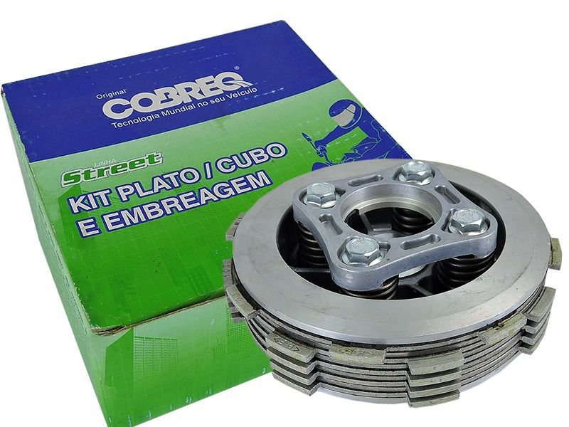 Kit Embreagem Cubo Plato E Disco Cobreq para Honda Titan 150 / Fan