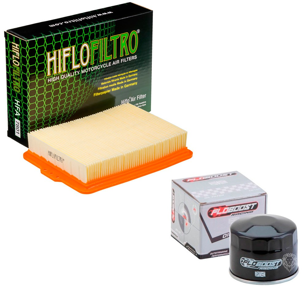 Kit Filtro De Ar BMW F750 GS/BMW F850 GS Hiflofiltro + Filtro de óleo