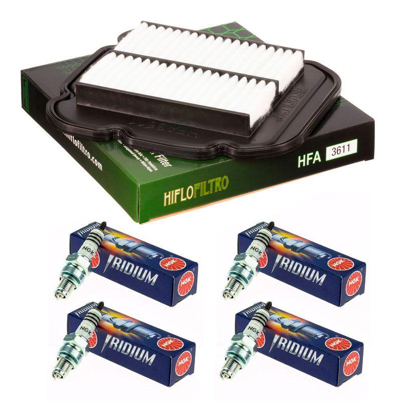 Kit Filtro De Ar Suzuki VStrom 650 + kit 4 Velas Iridium NGK