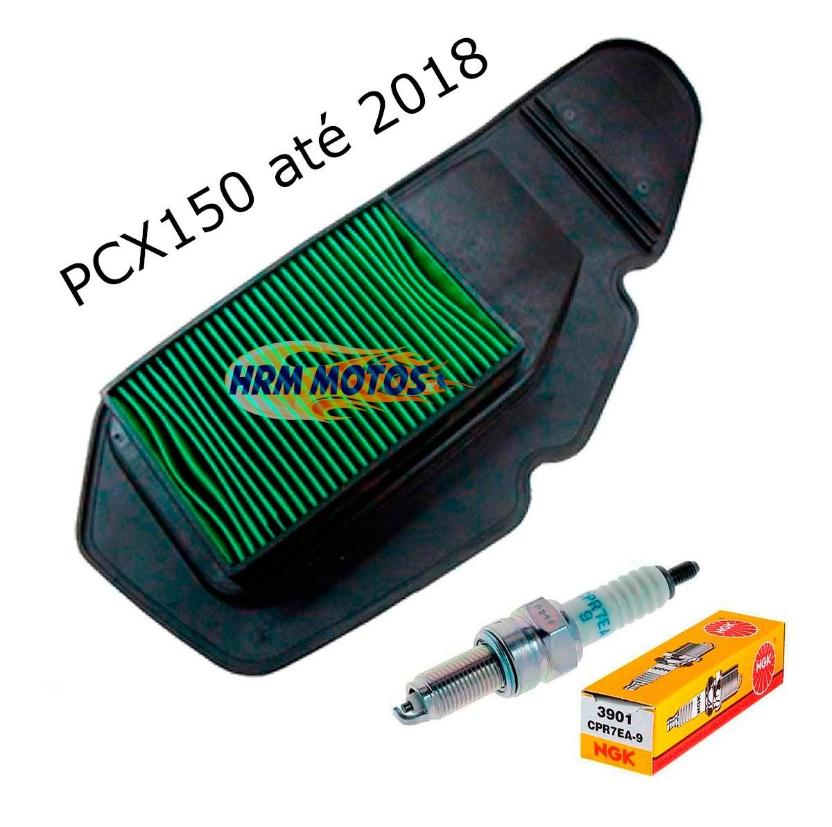 Kit Filtro de Ar + Vela para Pcx 150 2012 à 2018