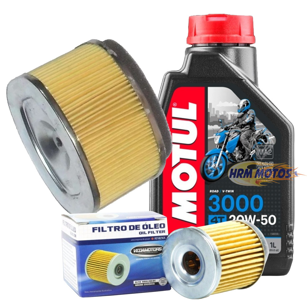 Kit Filtro De Óleo E Ar Burgman 125i + 1 Óleo Motul 3000