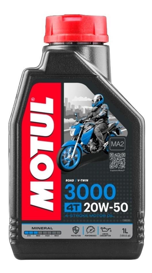 Kit Filtro De Óleo para Suzuki E 3 litros de Óleo Motul 4T 3000 20w50