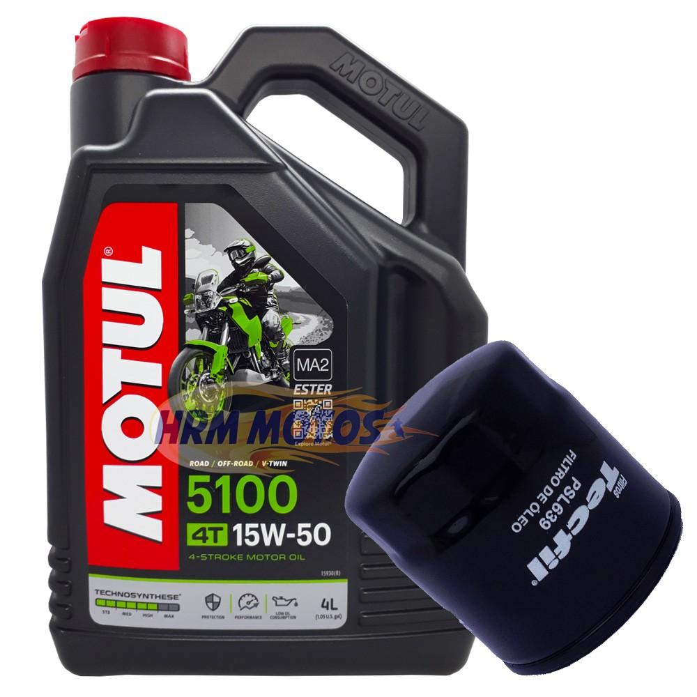 Kit Filtro de óleo Suzuki + 4 Litros Óleo Motor 5100 15w50