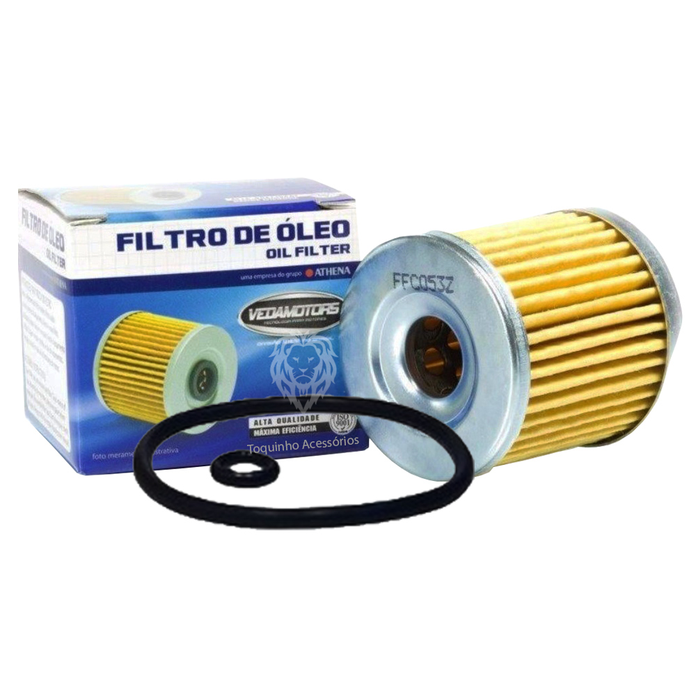 Kit Filtro De Óleo Yamaha Fazer/Lander/Tenere 250 e 2 Litros Yamalube 4T 10w40 Semi-sintético