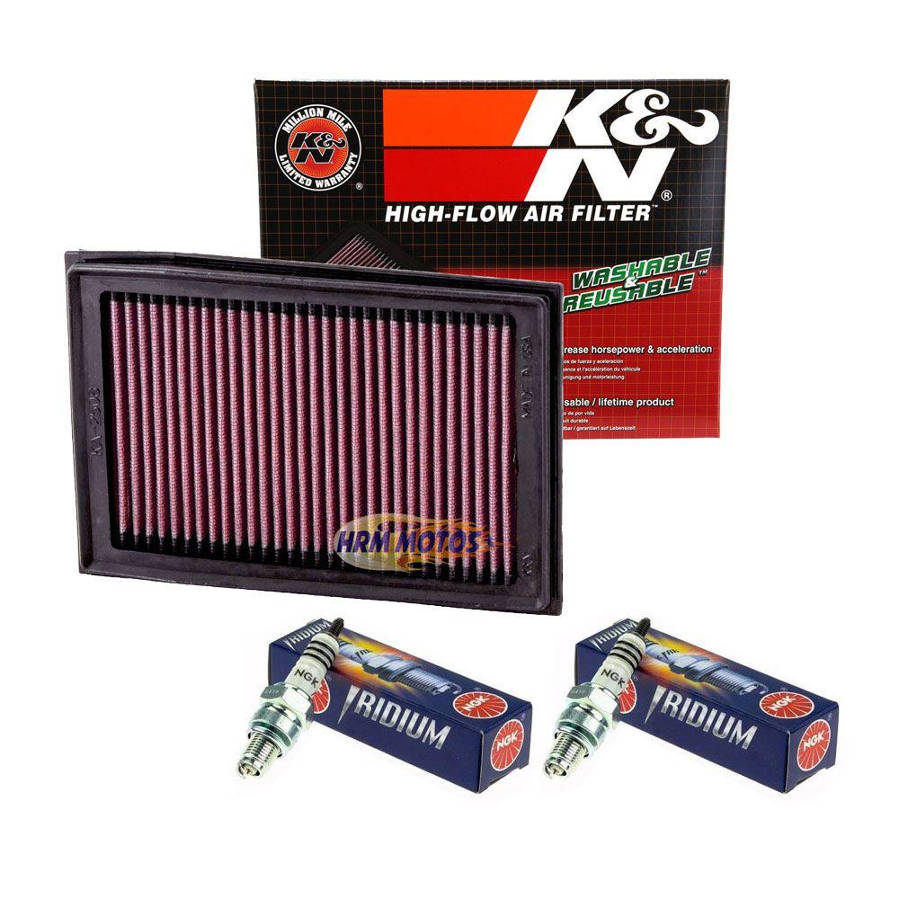 Kit Filtros de Ar e Óleo K&n + 3 Óleo Motul 5100 10w40 + 2 Velas Iridium Ninja 300 / Z300