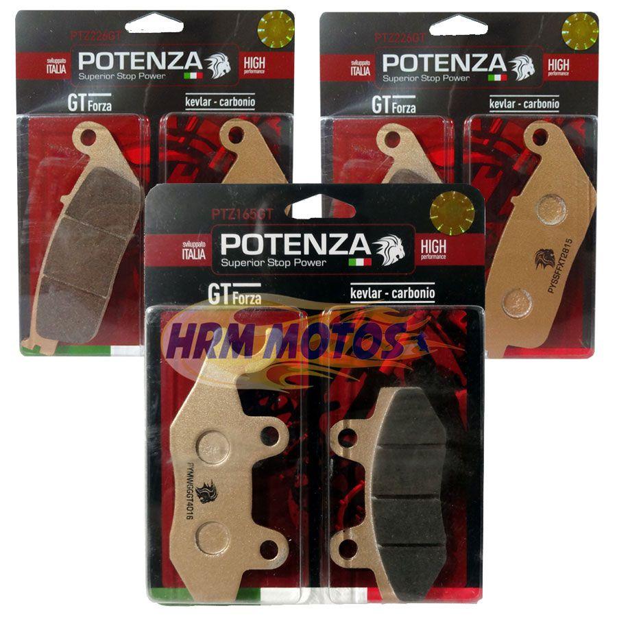 Kit Pastilha Dafra Roadwin 250r Potenza (Kit para os 3 discos)