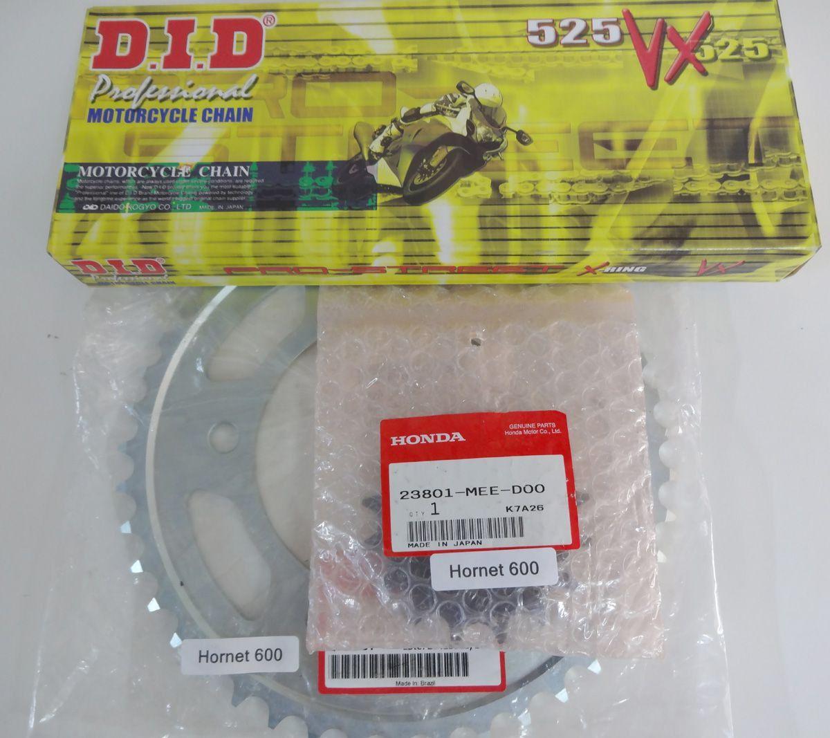 Kit Relação Corrente Coroa Pinhão CBR 650F CB 650F 2014-2018 c/Corrente DID