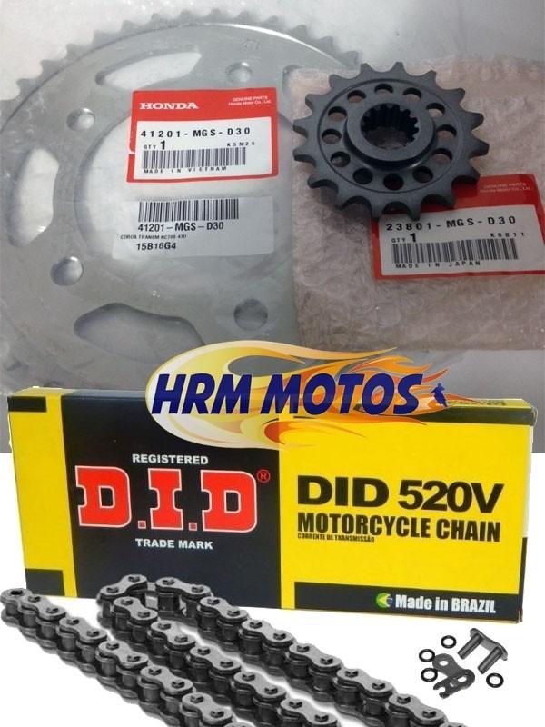 Kit Relação Corrente Coroa Pinhão Honda Nc 700x