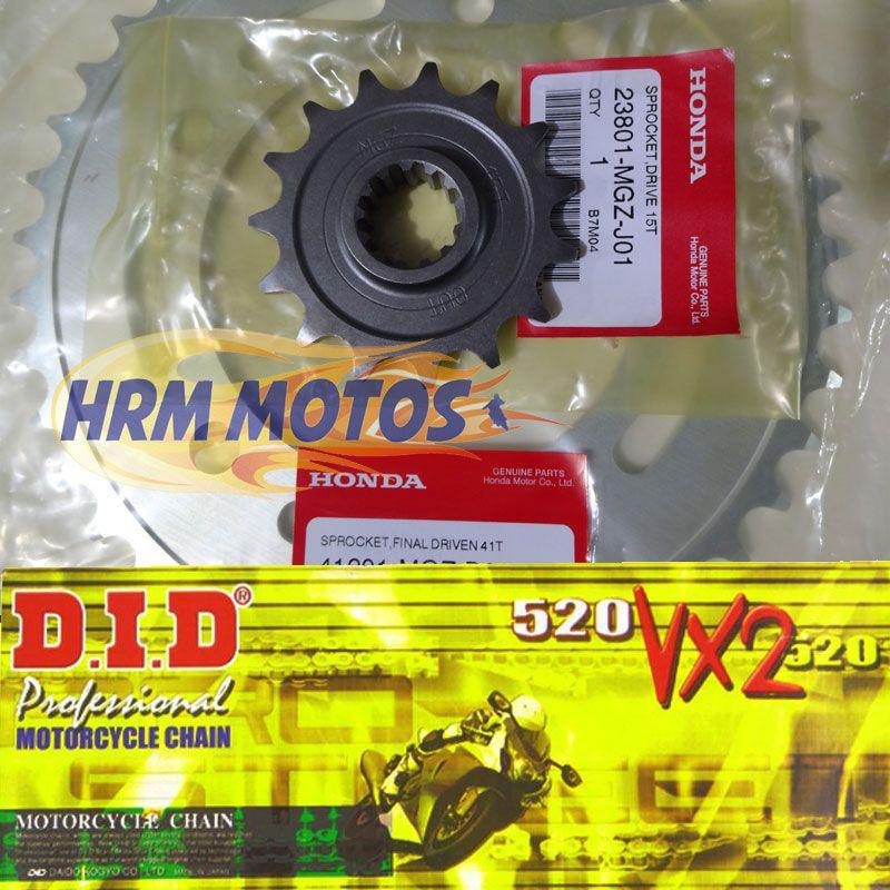 Kit Relação Corrente DID VX2 Com Retentor Honda Cb 500X/F/R
