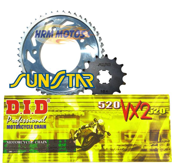 Kit Relação Kawasaki Ninja 650R / ER6N / Versys 650 Sunstar/DID VX2