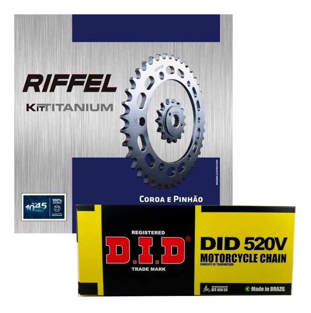 Kit Relação Yamaha MT-03 / R3 320cc Riffel + Corrente DID com Retentor