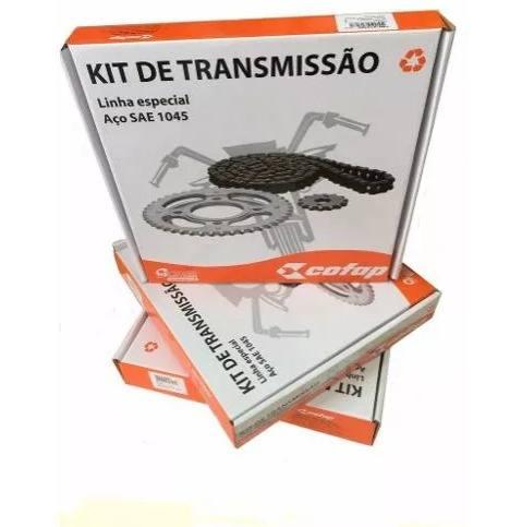 Kit Transmissão Corrente/Coroa e Pinhão CG 125 Fan 2009-2016 Cofap