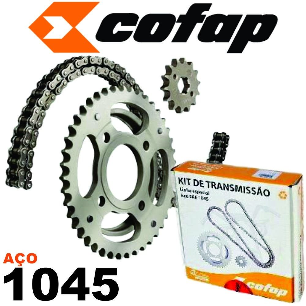 Kit Transmissão Corrente/Coroa e Pinhão XRE 300 Cofap