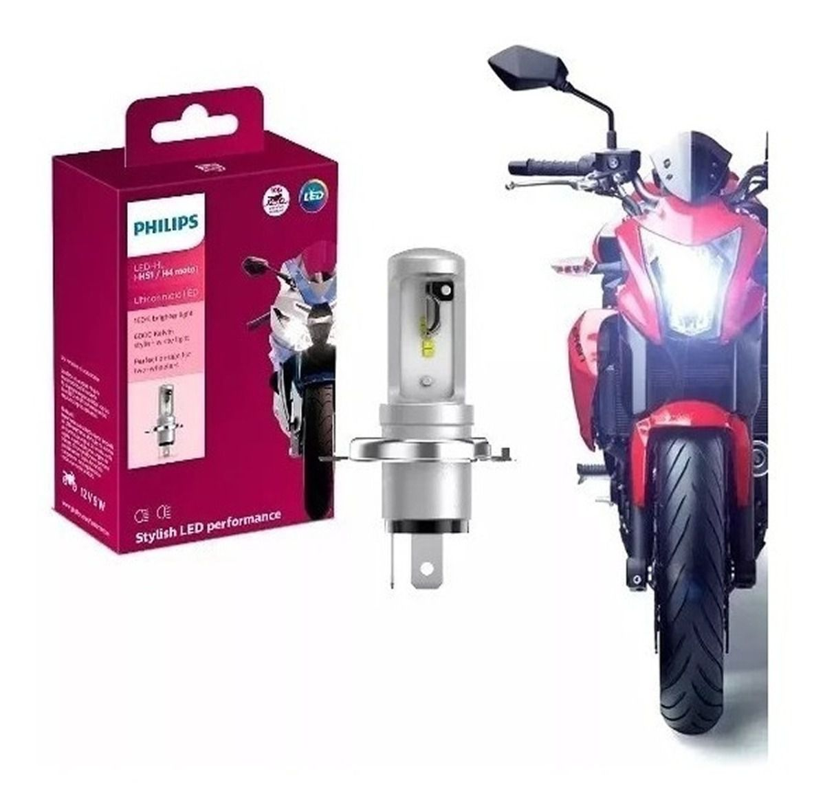 Lampada Farol H4 Hs1 Led Ultinon Moto Philips