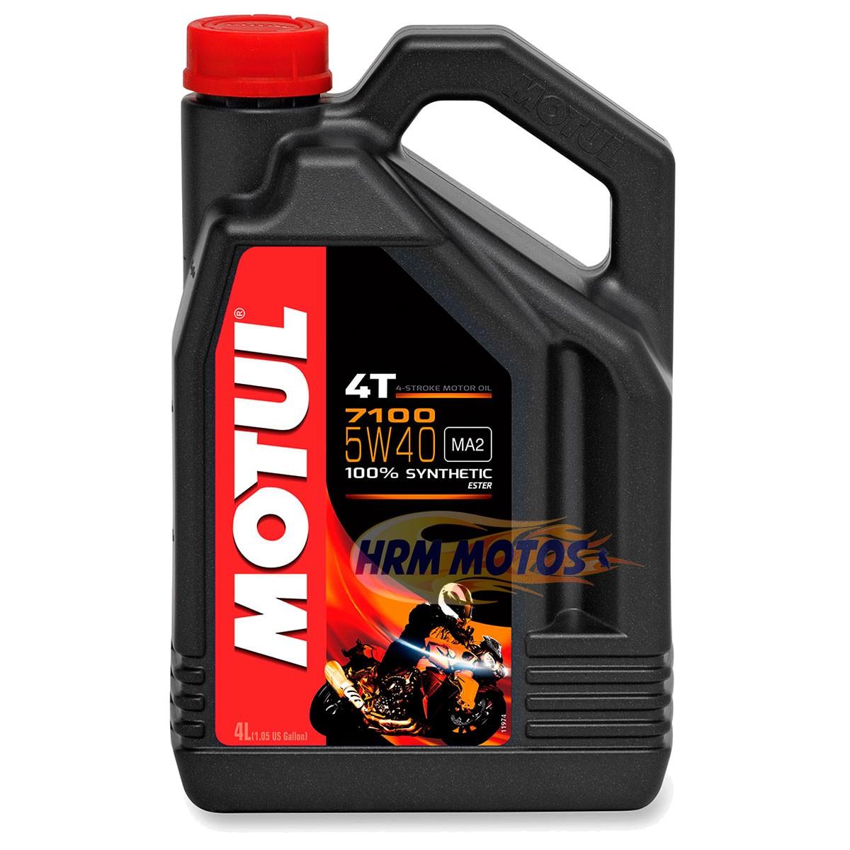 Óleo Motor Motul 4t 7100 5w40 100% Sintético (4 litros) S1000RR R1200 GS F800R GALÃO
