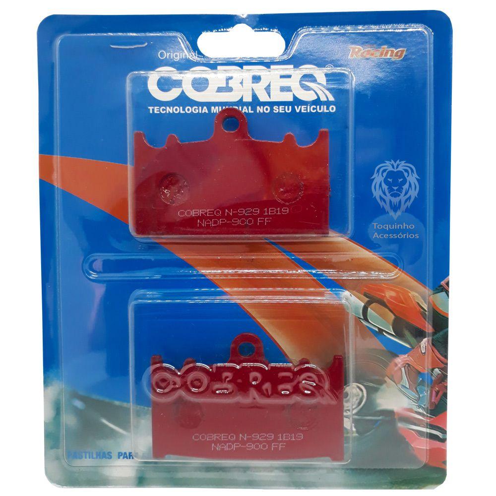 Pastilha Dianteira Bandit 650/1200/1250/Versys 1000/ZX-6R/GSX-R 750 Cobreq Racing N-929