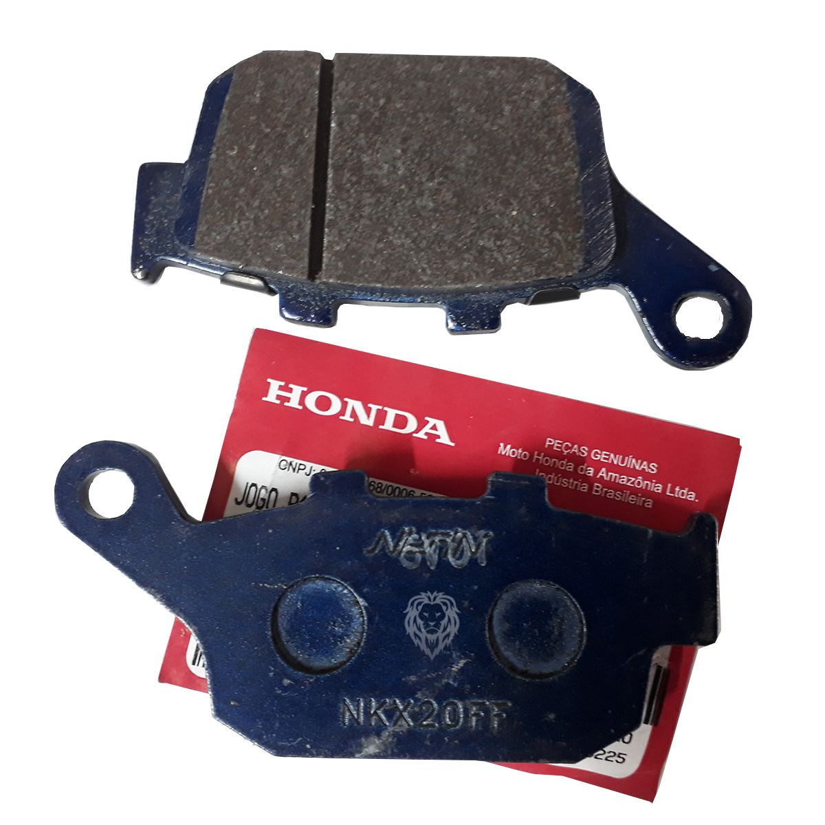 Pastilha Freio CB 500X/R/F/CBR 650F/CBR 650F Traseira Nissin/Honda