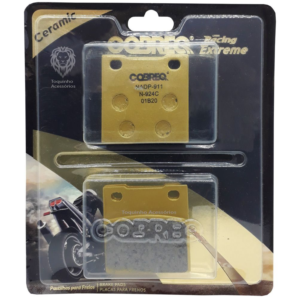 Pastilha Freio Cerâmica GSX 750F/GS 500/Hayabusa/Bandit 600/1200 Traseira Cobreq Racing Extreme N-924C