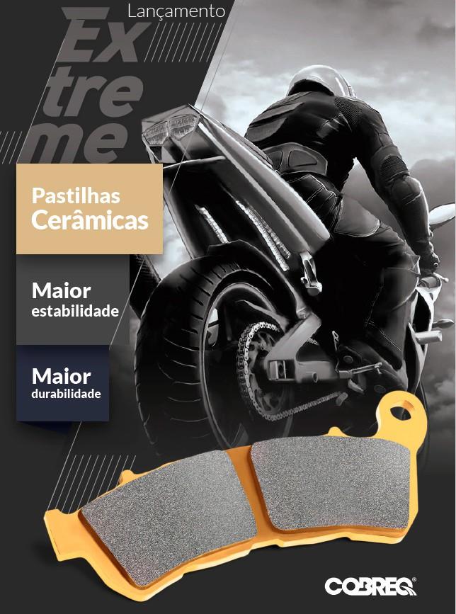 Pastilha Freio Cerâmica Midnight Star 950/Drag Star 650 Dianteira Cobreq Racing Extreme