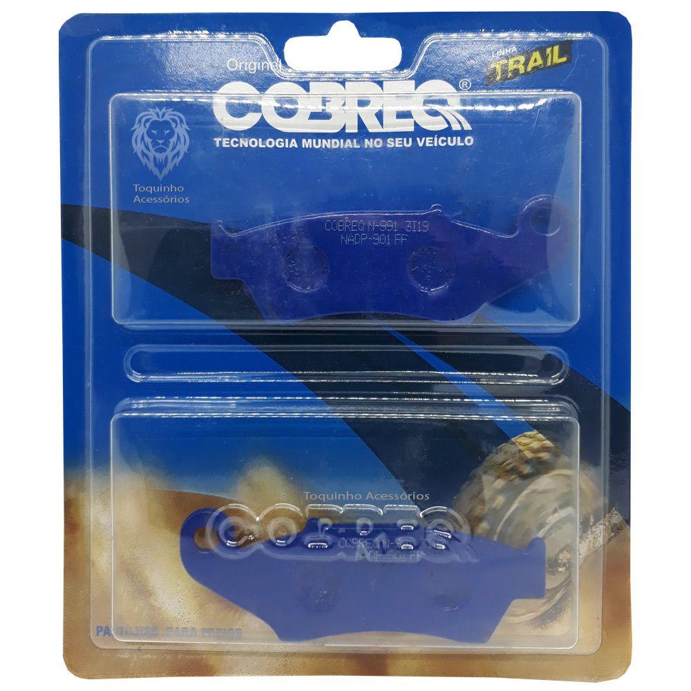 Pastilha Freio CRF 230 / XRE 300 sem ABS / Tornado / Falcon Dianteira Cobreq