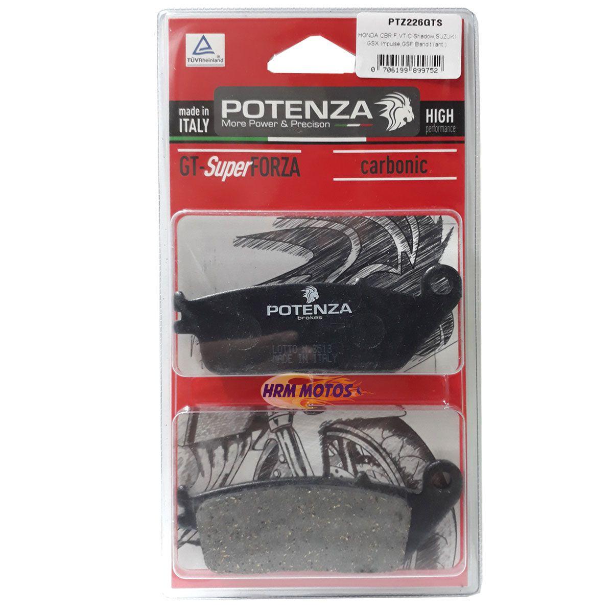 Pastilha Freio Potenza Tiger 800/xc/Hornet até 2007/CBR 250/VT 600/750 PTZ226GTS Super Forza
