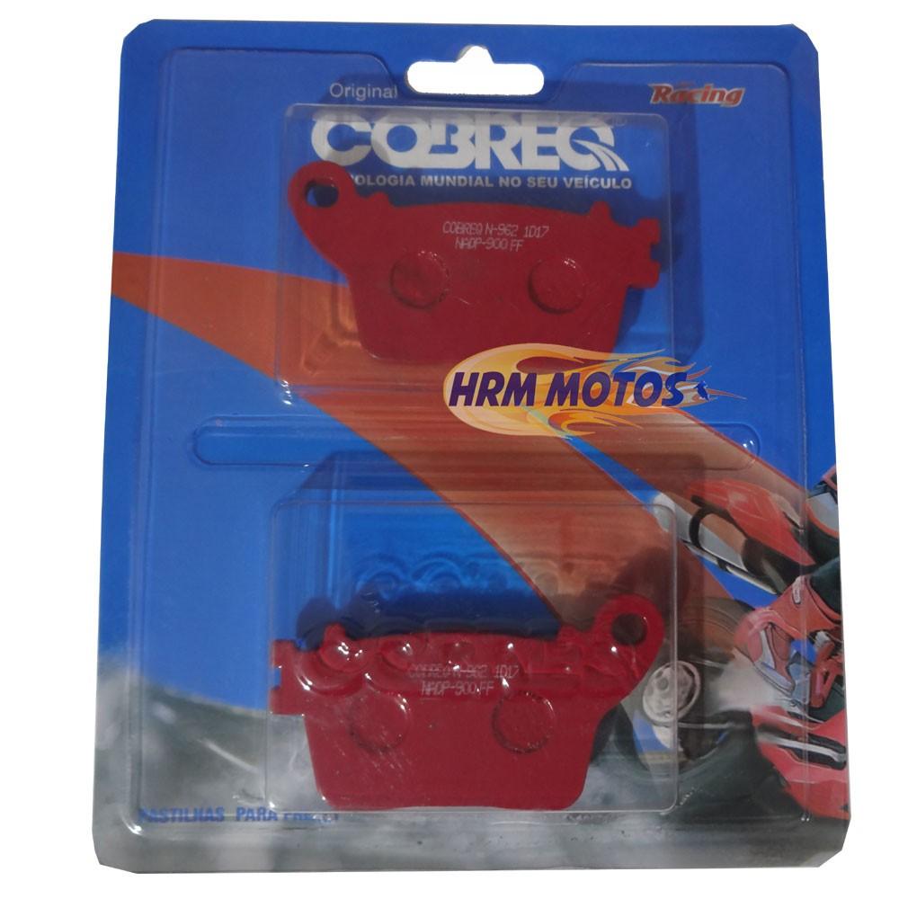 Pastilha Freio Traseira CBR 600RR/1000RR/Hornet 08a14 Sem Abs Cobreq Racing
